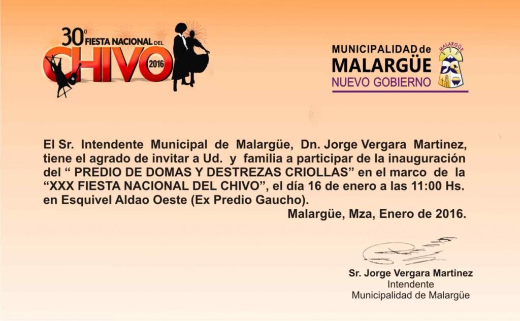 Invitación Predio de Doma y Desatrezas Criollas