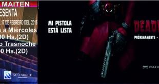 Deadpool y Una Familia Espacial en Cine Sala Maitén