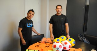 La escuelita de fútbol del Barrio Nueva Esperanza recibió donaciones en la ciudad de Mendoza