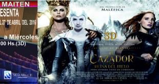 """Estreno de """"El Cazador y la Reina del Hielo"""" y la tercer semana de """"El libro de la selva"""" en Cine Maitén"""