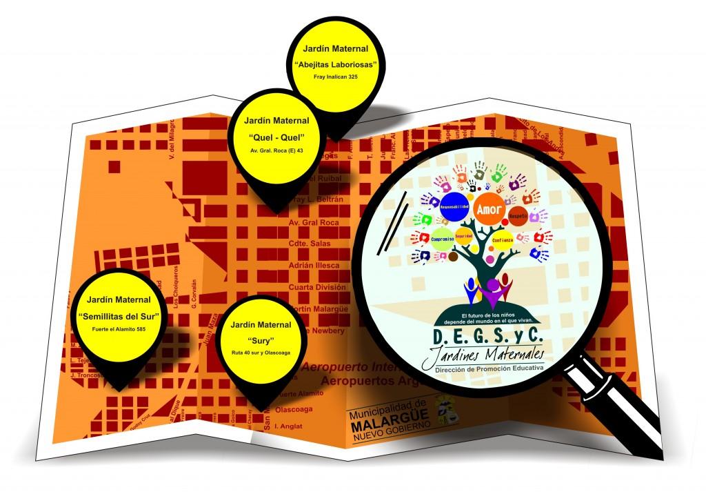 Jardines Maternales mapa