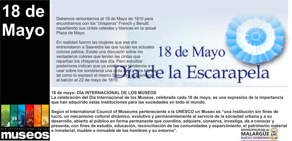 18 DÍA DE LOS MUSEOS Y ESCARAPELA
