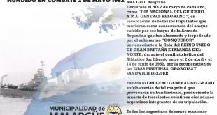 2 de mayo, Día del Crucero ARA Gral. Belgrano