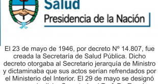 23 de Mayo, Día de la Secretaría de Salud Pública