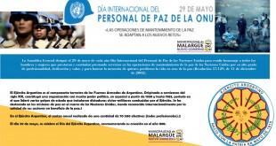 29 de Mayo, Día Internacional del Personal de Paz de la ONU