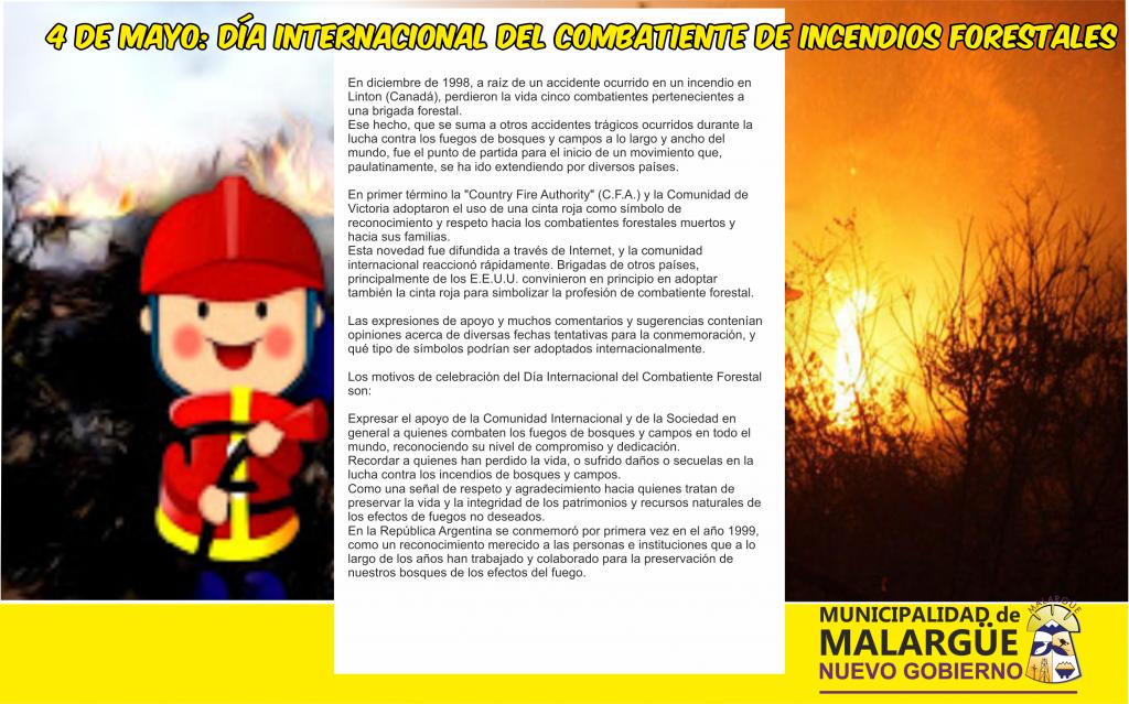 4  efemeride día  del convatiente de  incendios forestales
