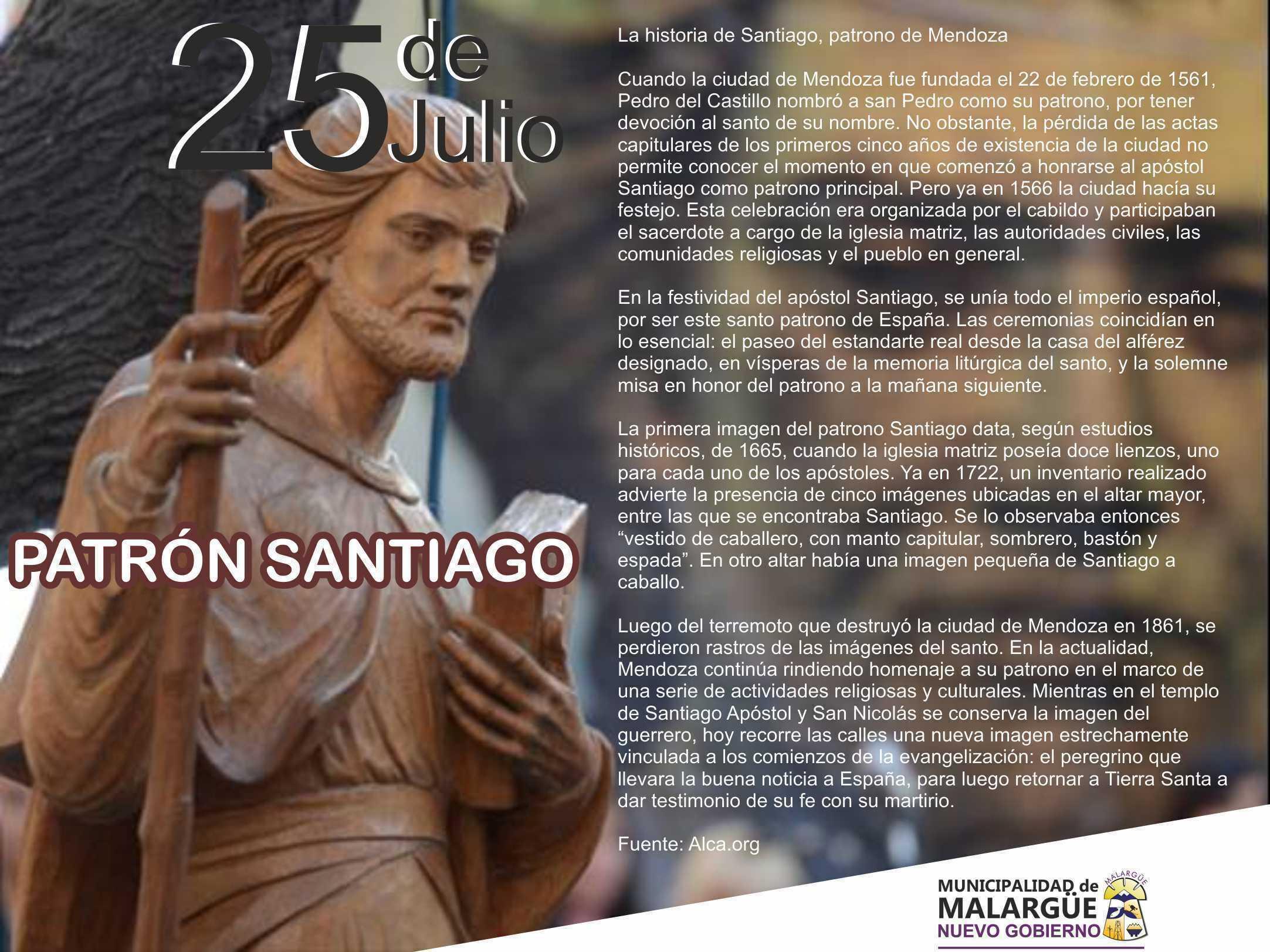 25 de Julio La Historia de Santiago, Patrono de Mendoza