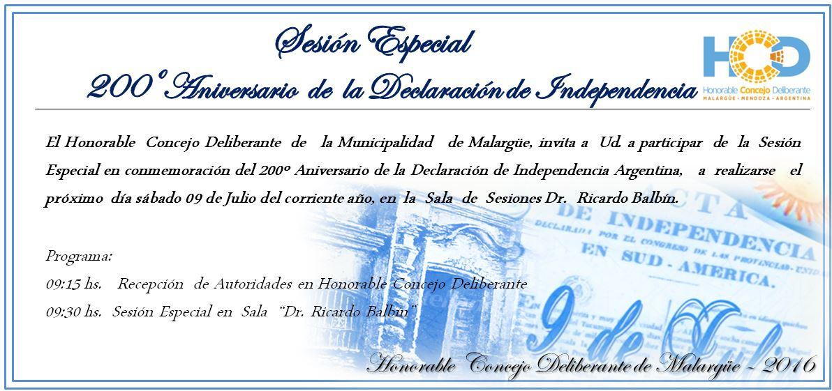 Invitación- HCD Sesión Especial 200º Aniv. Independencia (2)