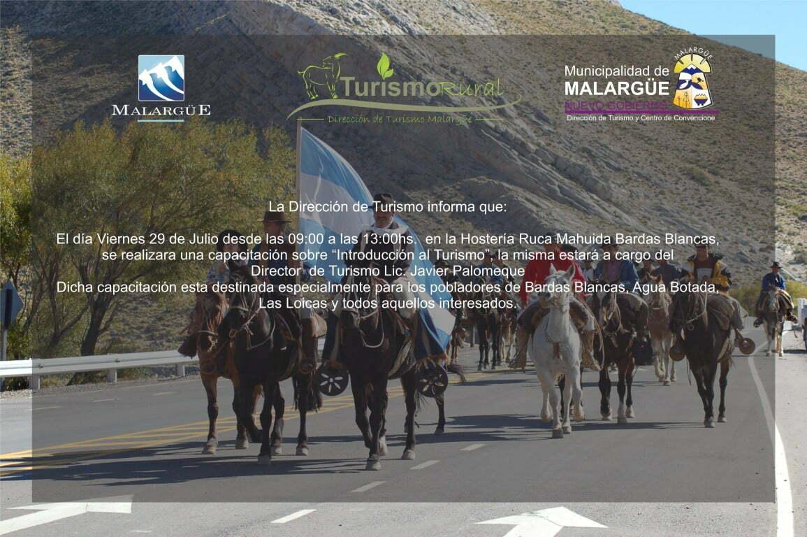 Capacitación de Introducción al Turismo en Bardas Blancas