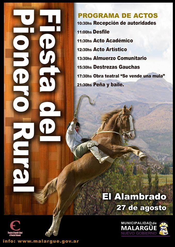 El Sábado se celebrará la Fiesta del Pionero Rural en El Alambrado