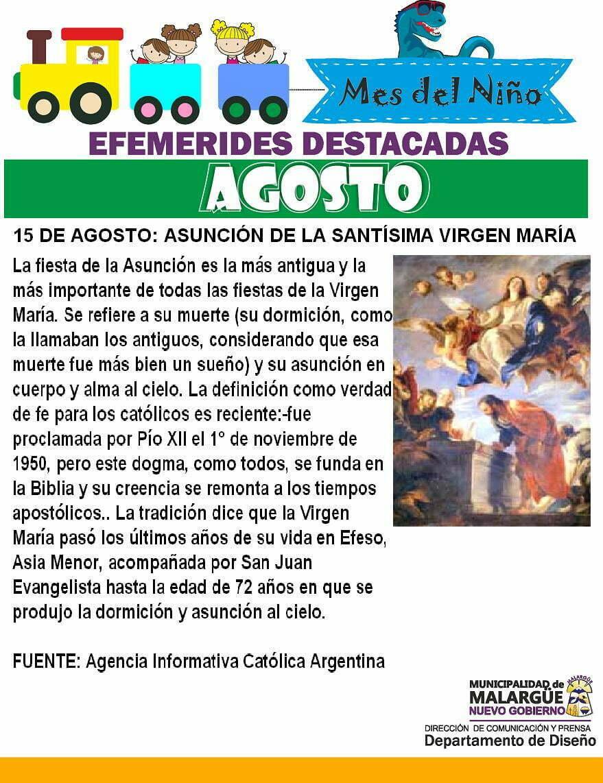 15 de agosto, Día del Árbol – Asunción de la Santísima Virgen María