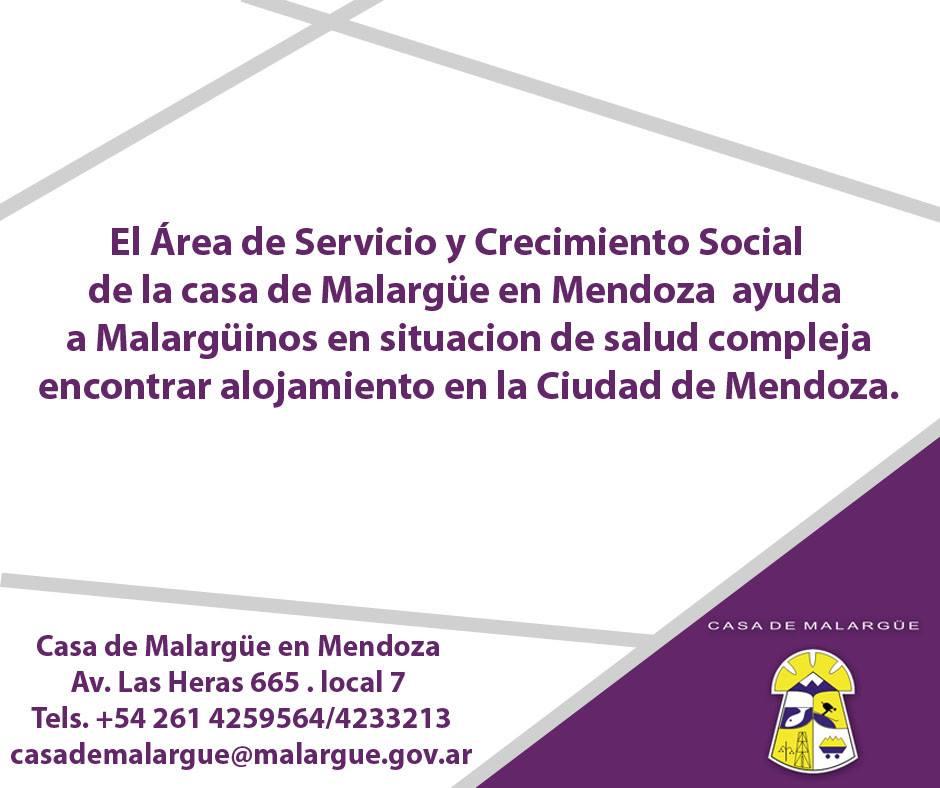 Alojamiento en Mendoza para malargüinos con problemas de salud