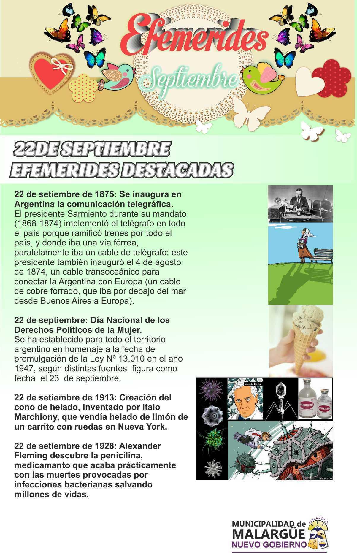 Efemérides 22 de Septiembre