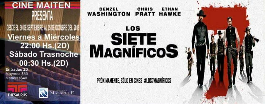 Los siete magníficos y Cigüeñas en Cine Maitén