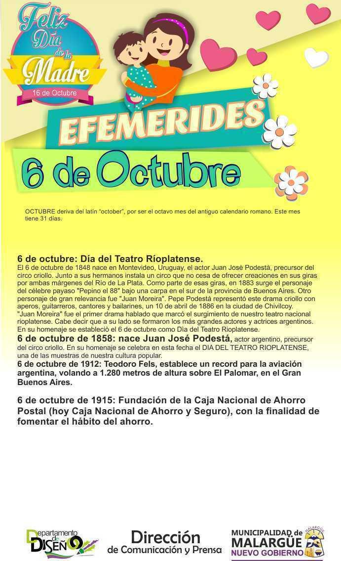 Efemerides 6 de Octubre