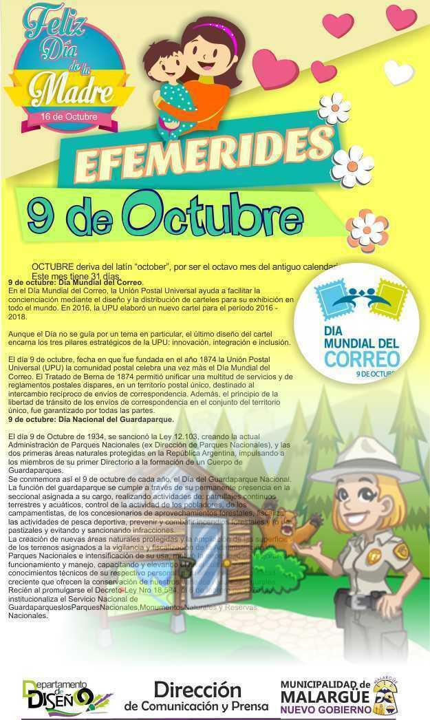 Efemérides 9 de octubre