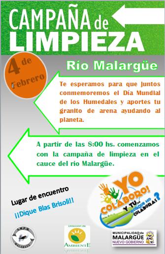 Campaña de limpieza Río Malargüe
