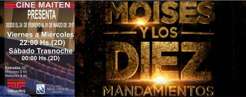 Moises y los diez mandamientos llega al Cine