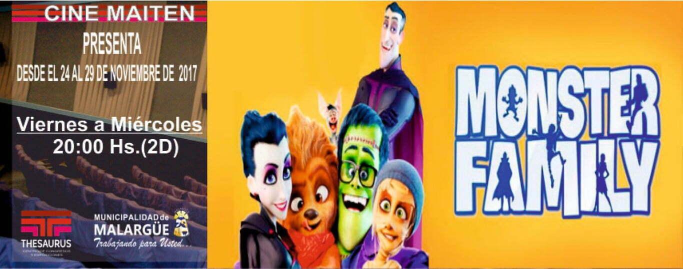 Monster Family y La liga de la justicia en Cine Maitén