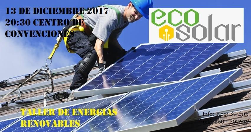 Se dictará un Taller gratuito sobre Energías Renovables