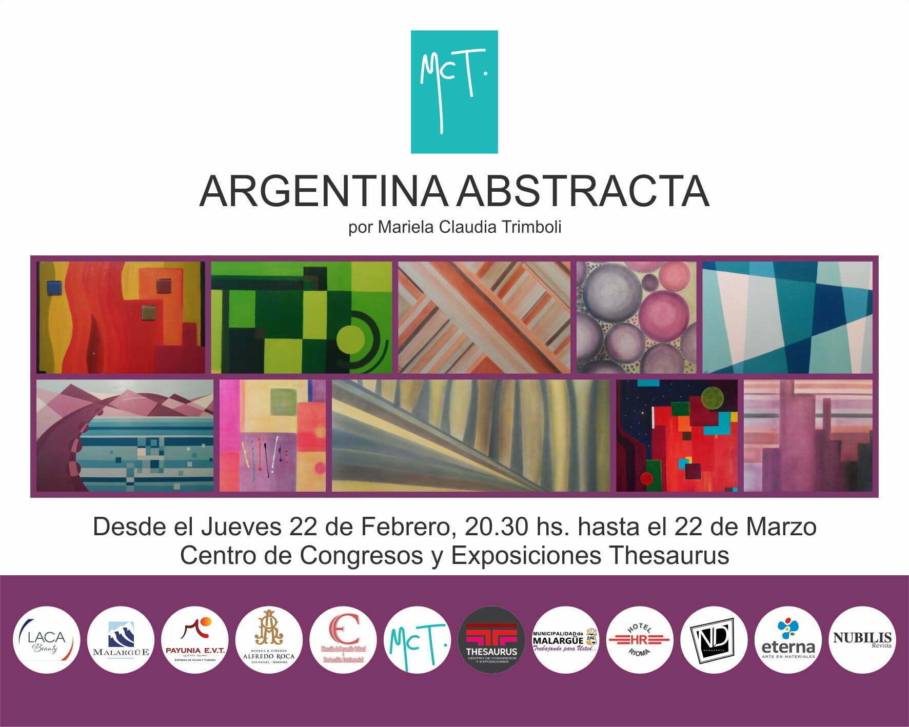 """La colección de cuadros """"Argentina Abstracta"""" se presenta en el Centro de Congresos y Exposiciones Thesaurus"""