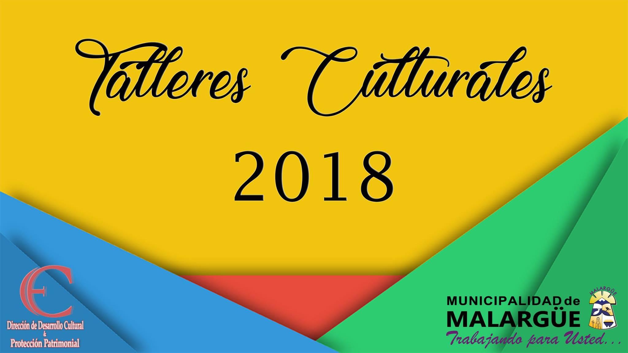 Abre la inscrpción para talleres culturales Edición 2018