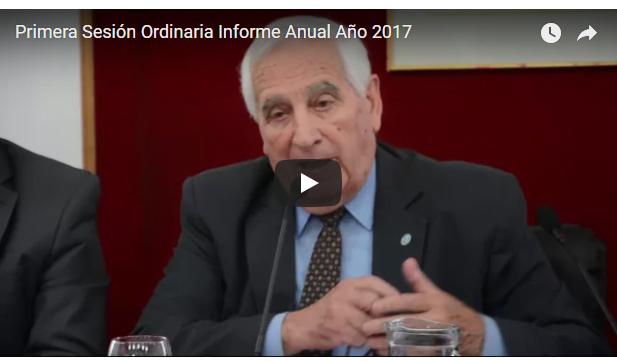 Primera Sesión Ordinaria 2018 – Informe anual del año 2017