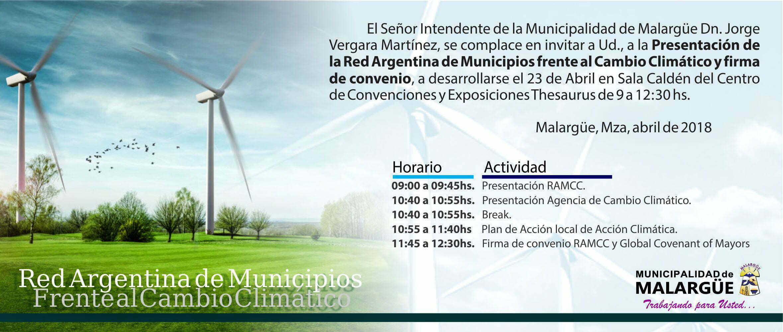 Presentación de la Red Argentina de Municipios frente al Cambio Climático