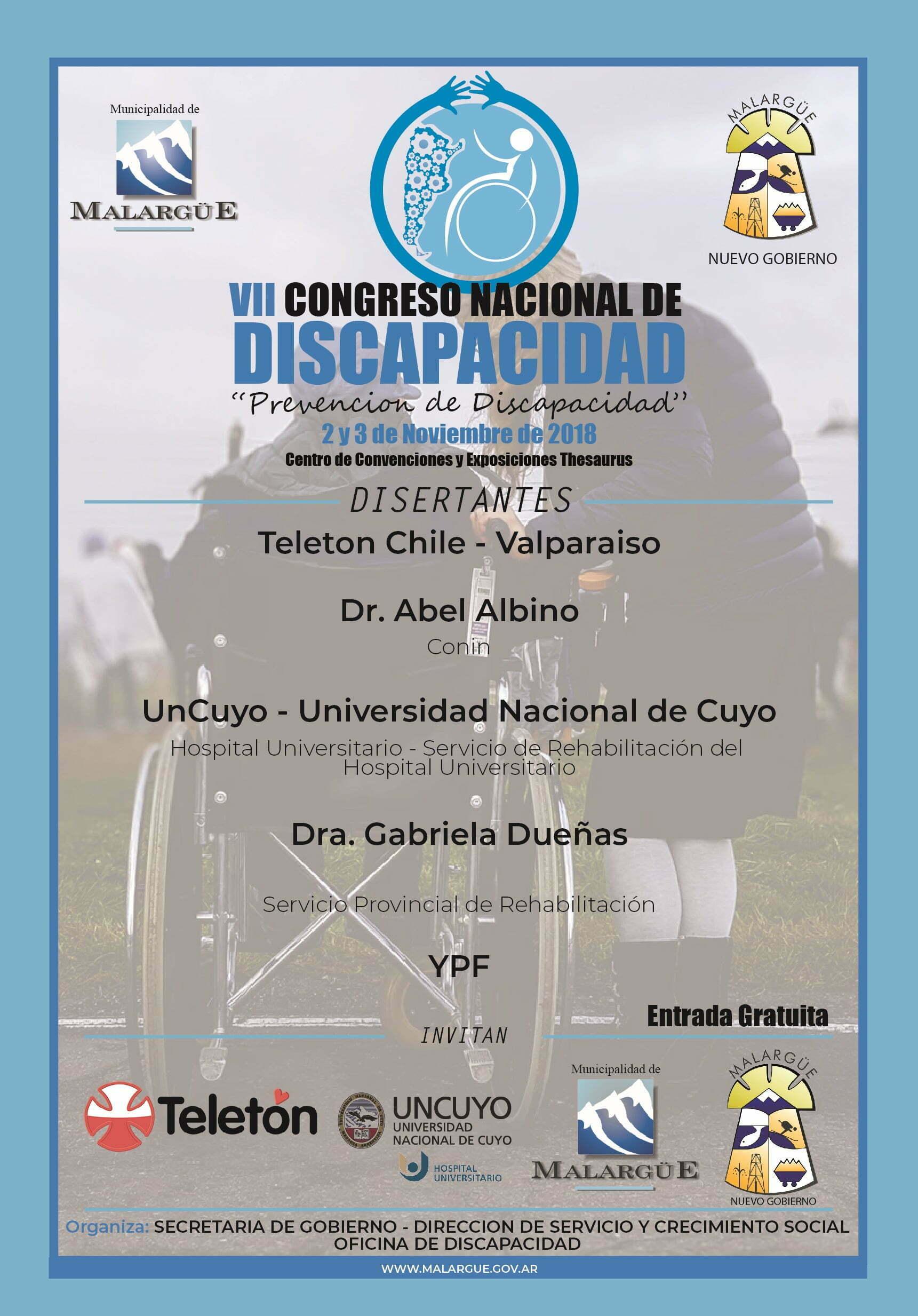Invitación al VII CONGRESO NACIONAL DE DISCAPACIDAD