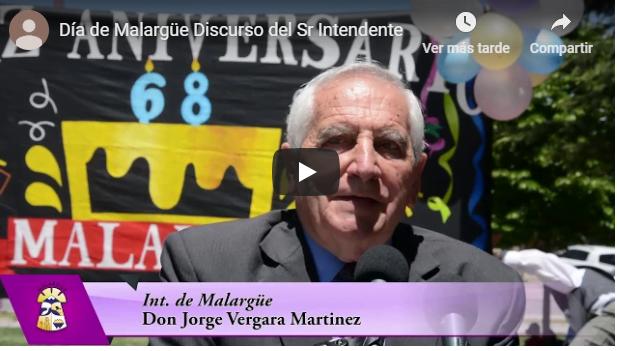 Discurso del Sr. Intendente Don Jorge Vergara Martinez